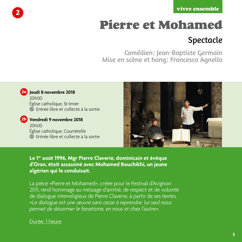 Pierre et Mohamed - Spectacle